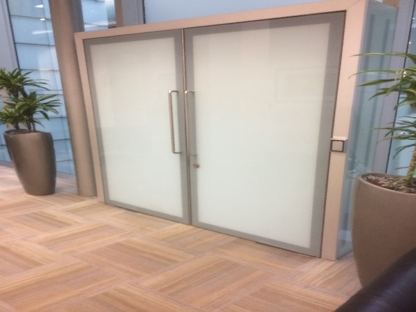 Domestic Toughened Glass Door; Obscured Toughened Doors Two colour silk screening process. & AP Doors Plate Glass Doors Armour Plate Glass - A to Z Glazing