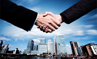 Commercial business handshake