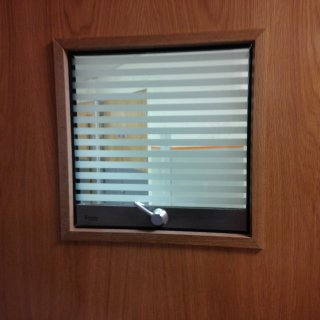 glass screen in doctors surgery